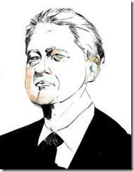 Bill Clinton caraciture